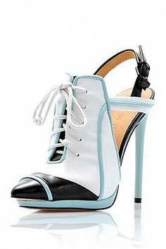 """LAMB - Camryn II -  Genuine leather. Pointed toe. Lace-up style.Ankle strap with adjustable buckle. Heel: 5""""/12.5 cm.Material: Leather Made in Italy"""