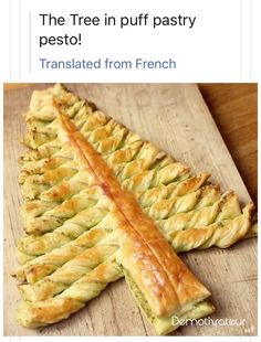 Puff pastry with pesto tree