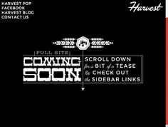 Harvest Creative Coming Soon Teaser Website Intro by killingclipart, via Flickr - Really cool teaser site!