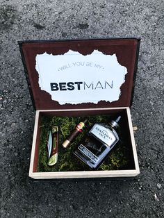 Will you be my best man? Box! Personalized knife!