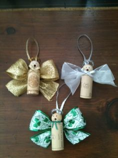 Wine Cork Angel Ornaments