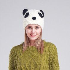 1c43983982f  AETRENDS  2016 Cute Panda Beanies Winter Beanie Hats for Women