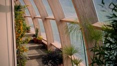 Staying natural: Horticulturist Elizabeth had a greenhouse on the side of the home, which ...