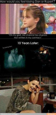 Harry potter lmao-Emma Watson must be so ashamed.