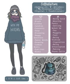 Meet The Artist by CoffeeVulture Character Sheet, Character Creation, Character Drawing, Character Concept, Logo Character, Concept Art, Anime Chibi, Meet The Artist, Character Design Inspiration