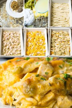 Always a hearty family favorite, Chicken Tortilla Casserole makes the most of convenient ingredients while packing tons of rich flavor in every creamy bite! Chicken Tortilla Casserole, Mexican Chicken Casserole, Casserole Recipes, Mexican Dishes, Mexican Food Recipes, Dinner Recipes, Cheese Enchiladas, Easy Eat, Cream Of Chicken Soup