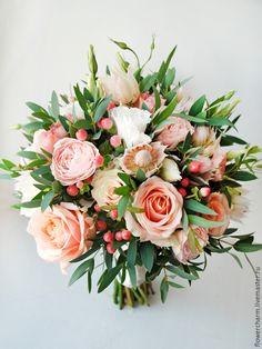 Купить Букет невесты в свободной форме - букет невесты, свадебный букет, букет на свадьбу