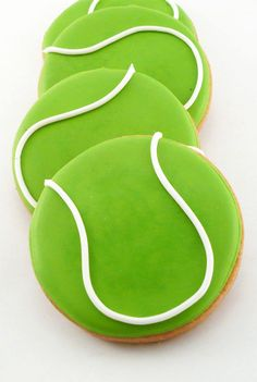 One dozen tennisball cookies ~ 3 round ********** Current lead time: 5-7 business days + 2-4 days for shipping via USPS. ABOUT OUR COOKIES: All