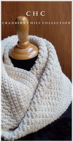 OVERSIZED crochet textured infinity scarf crochet cowl by luvslulu