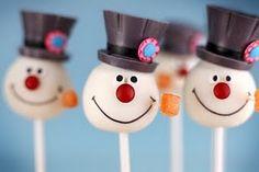 Frosty snowman pops