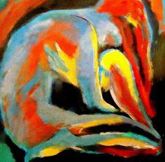 "Saatchi+Online+Artist+Helena+Wierzbicki;+Painting,+""Introspection""+#art"