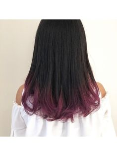 Pink Ombre Hair, Hair Color For Black Hair, Hidden Hair Color, Hair Color Streaks, Wine Hair, Creative Hair Color, Hair Dye Tips, Colored Hair Tips, Long Hairstyles