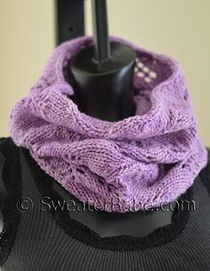 #198 Lazy Weekend Cowl by SweaterBabe. malabrigo Worsted in orchid colorway.