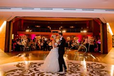 white and gold oval dance floor
