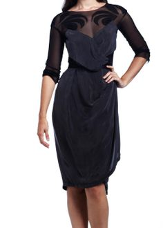 Daniel Silverstein No-waste eco-fashion mesh and cupro dress