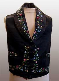 Embroidered Waistcoat, English, ca. 1840-50