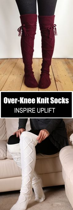 Our Over The Knee Knit Socks are the perfect cold weather accessories for the upcoming holiday season and all winter long! These beauties are not only warm, they make a statement! Made of high quality fabric these knit socks are super cozy and fashionable Winter Dresses, Winter Outfits, Over The Knee, Boating Outfit, Knitting Socks, Knit Socks, Crochet Slippers, Pullover, Shopping