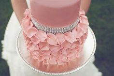 bling and rose petals for a photo shoot, petals made of 50/50 MMF and modeling choc.  Loved this one!