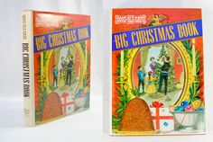 Big Christmas Book Vintage Retro Designer Bookcase Holiday Decor