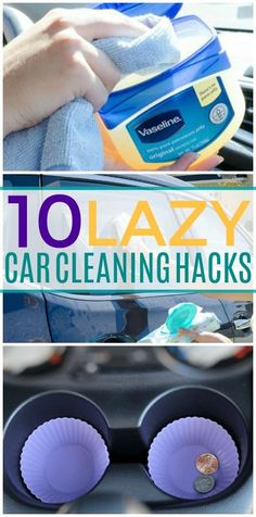 10 Cleaning Hacks That'll Actually Keep Your Car Clutter Free These car cleaning hacks are THE BEST! I'm so glad I found these GREAT cleaning and organization tips! Now I have great ways to keep my car clean and tidy! Car Cleaning Hacks, Car Hacks, Storage Hacks, Organization Hacks, Thing 1, Cleaning Painted Walls, All Purpose Cleaners, Simple Life Hacks, Diy Hanging