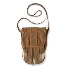 Women' s Fringe Crossbody Handbag - Brown