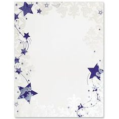 Winter Stationery, Winter PaperFrames™ Border Papers - Frosted Stars PaperFrames™ Border Papers by PaperDirect Boarder Designs, Page Borders Design, Free Printable Stationery, Printable Paper, Printable Labels, Printables, Borders For Paper, Borders And Frames, Picture Borders