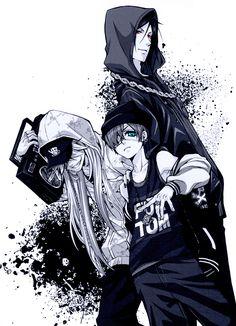 kuroshitsuji-Ciel,Sebastian and Undertaker