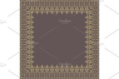 Damask Patterns, Arabesque, Vector Pattern, Oriental, Abstract, Frame, Creative, Floral, Summary