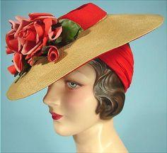 MMe Irene Ambassador Hotel, Los Angeles, CA hat via antiquedress.com