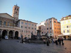 Na Janelinha para ver tudo: Santa Maria in Trastevere, a Roma que parece…