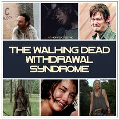 No cure till October. Cry face. TWD. Need a support group. Rick Grimes. Daryl Dixon. Carl Grimes. Maggie. Beth. Michonne. The Walking Dead.