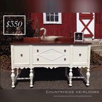 Stunning Vintage Hand Painted in Country Chic's Vanilla Frosting Buffet.