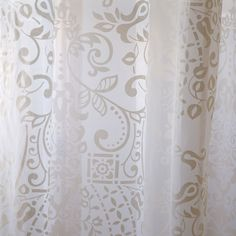 DAMASK COTTON CURTAINS