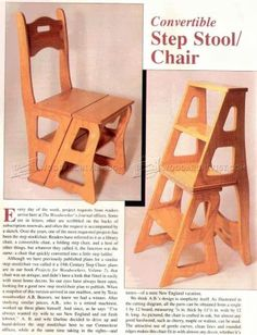 #2478 Chair Step Stool Plans - Furniture Plans