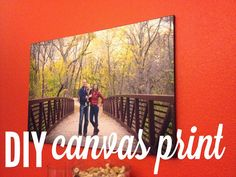 DIY tutorial - canvas print   how to turn an ordinary picture into a piece of art