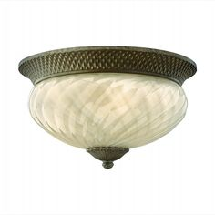 Plantation Pearl Bronze Outdoor Ceiling Light