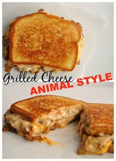 Grilled Cheese Animal Style. Loaded with grilled onion and special sauce. Tastes just like In-N-Out!!