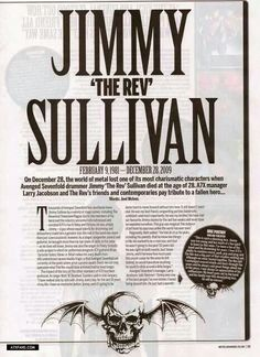 I became a fan after The Rev passed, but things like this still kill me. This band is a part of me