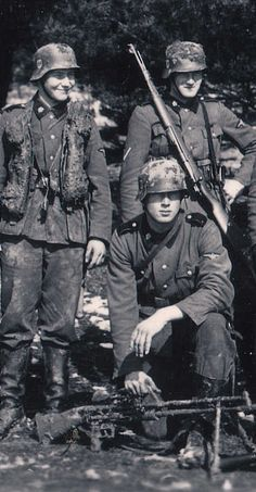 Waffen-SS Soldiers, possibly Totenkopf division.