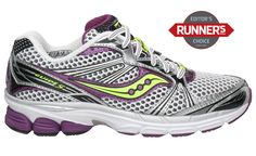 I just bought these. Great for people with flat feet who want to log long miles.  Saucony Women's ProGrid Guide 5