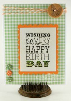Candy Slabaugh creates a birthday card featuring #CraftworkCards, #TayloredExpressions