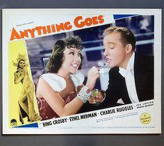 ANYTHING GOES (1936) Bing Crosby/Ethel Merman/Cole Porter music lobby card J023 in Entertainment Memorabilia, Movie Memorabilia, Lobby Cards | eBay