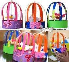 Have fun with DIY bird cage decorations by taking ideas from the awesome collection of ideas handpicked for you. Decorate your home with kids DIY bird cages, bird cage planters for garden and more. Bird Crafts, Animal Crafts, Fun Crafts, Paper Crafts, 3d Paper, Projects For Kids, Diy For Kids, Art Projects, Crafts For Kids