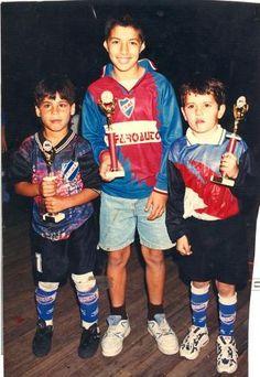 A young Luis Suarez (middle)