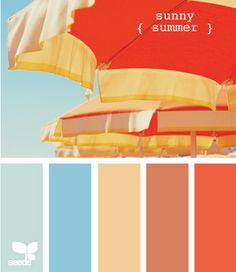 Love this Sunny Summer Palette as we move into April...