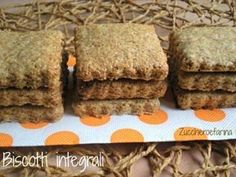 Biscotti integrali Biscotti Cookies, Biscotti Recipe, Apple Recipes, Cake Recipes, Dried Apples, Shortbread, Quick Easy Meals, Sweets, Dishes