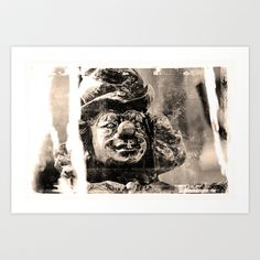 Clownsfigur am Sarasanibrunnen in Dresden Art Print by pASob - $12.58