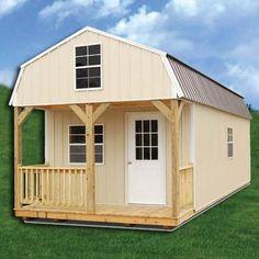 Z-Metal Derksen Side Lofted Barn Cabin Diy Shed Plans, Storage Shed Plans, Lofted Barn Cabin, Rustic Loft, Loft Interiors, Building A Shed, Building Homes, Building Plans, Building Ideas