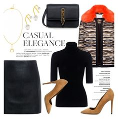 """""""Casual elegance!"""" by ifchic ❤ liked on Polyvore featuring Carven, McQ by Alexander McQueen, Marissa Webb, Dee Keller, Maria Black and Karen Walker"""