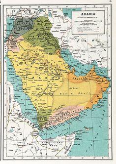 Arabia Map 1939